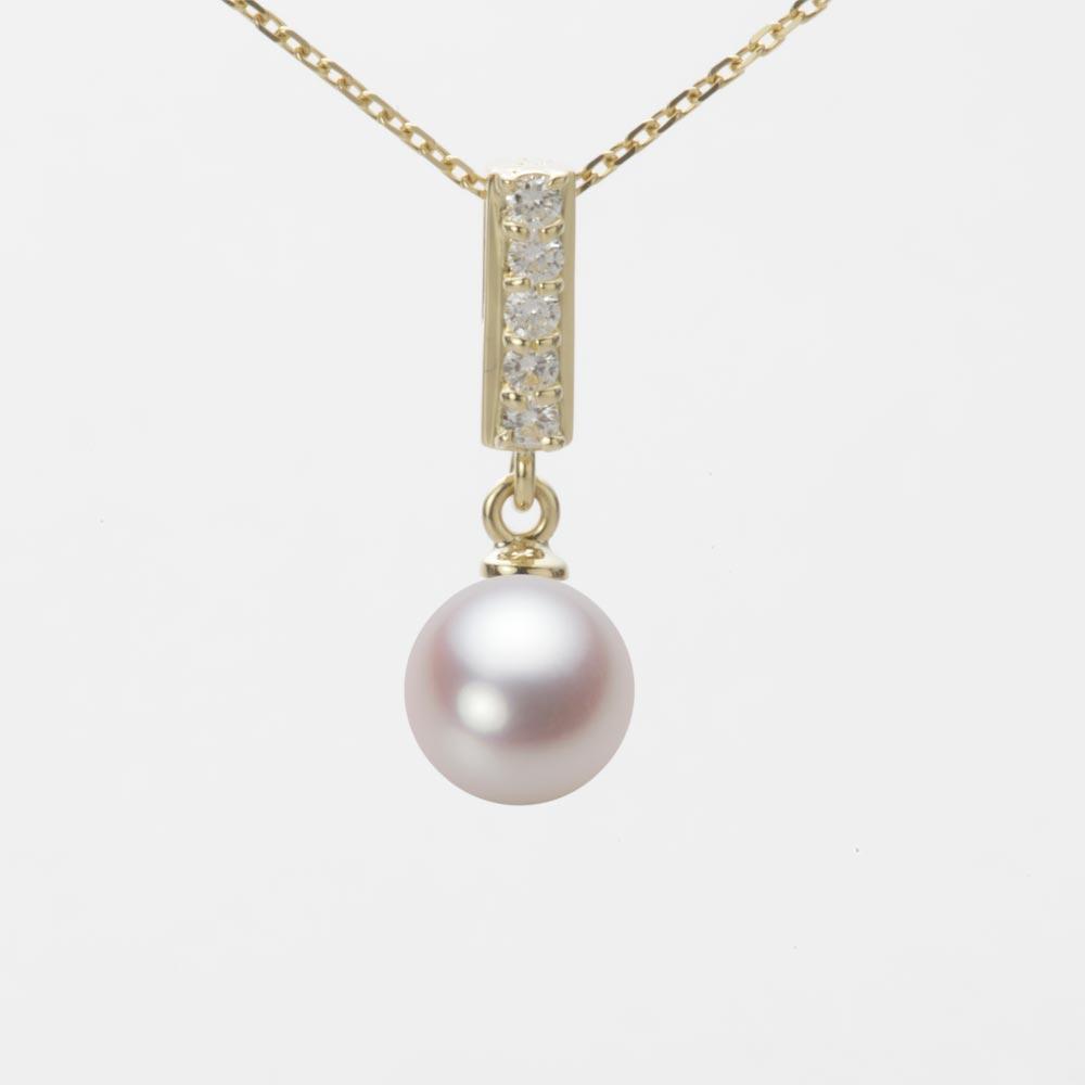 あこや真珠 パール ネックレス 7.0mm アコヤ 真珠 ペンダント K18 イエローゴールド レディース HA00070R13WPN314Y0