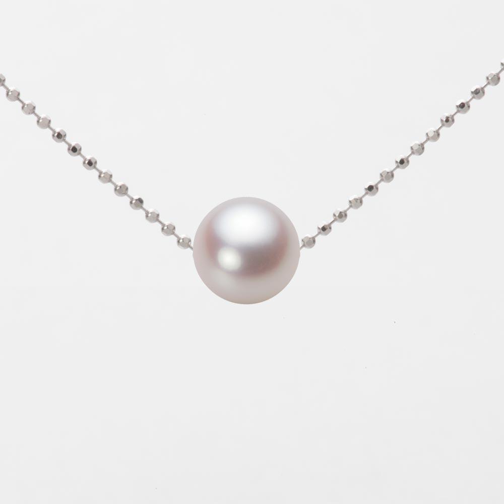 あこや真珠 パール ネックレス 7.0mm アコヤ 真珠 ペンダント K18WG ホワイトゴールド レディース HA00070R13WPNB01WS