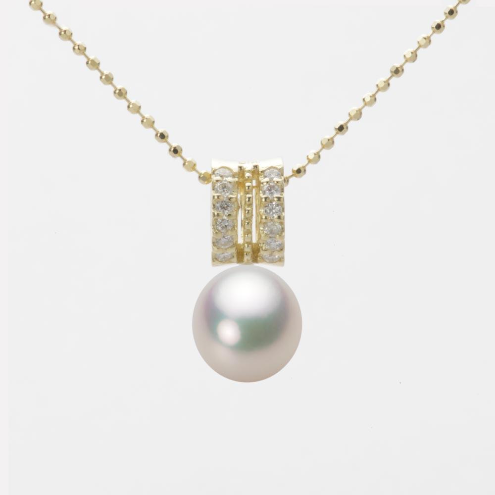 あこや真珠 パール ペンダント トップ 7.5mm アコヤ 真珠 ペンダント トップ K18 イエローゴールド レディース HA00075D11CW01278Y-T