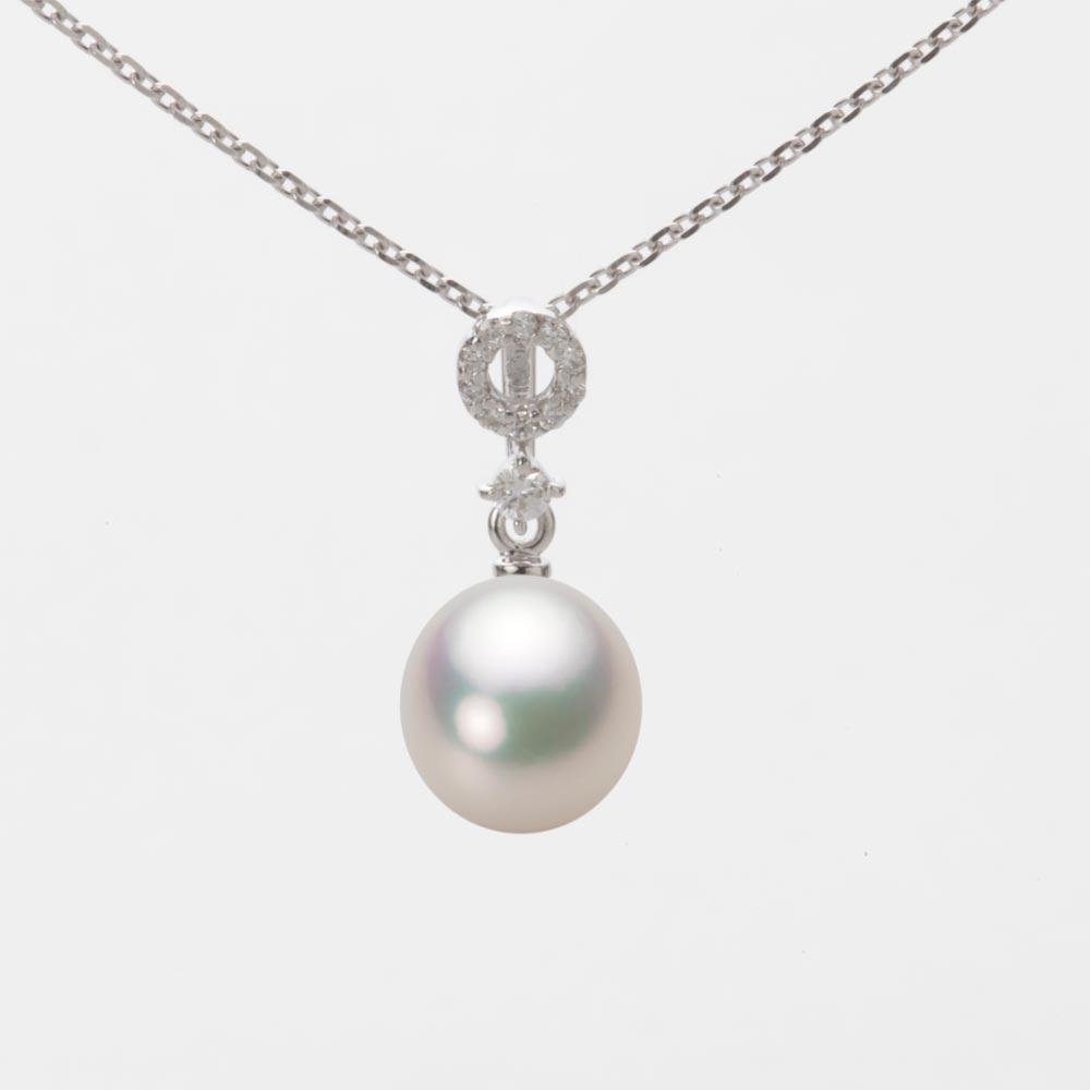 あこや真珠 パール ペンダント トップ 7.5mm アコヤ 真珠 ペンダント トップ K18WG ホワイトゴールド レディース HA00075D11CW01474W-T