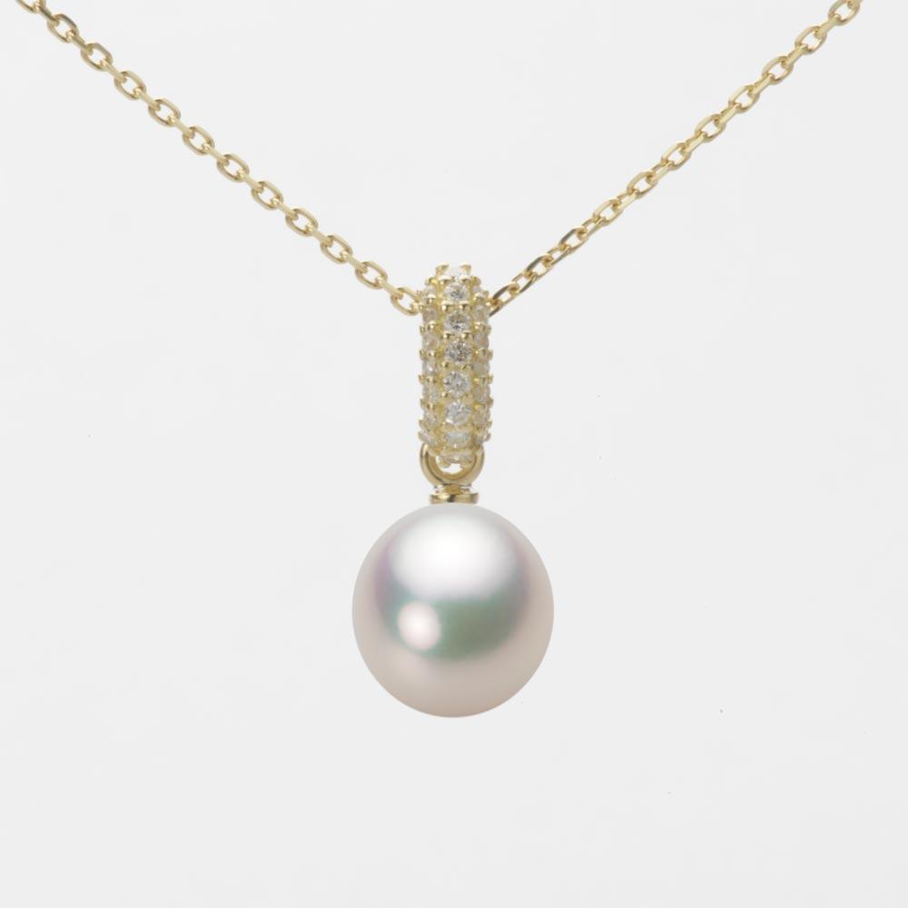 あこや真珠 パール ペンダント トップ 7.5mm アコヤ 真珠 ペンダント トップ K18 イエローゴールド レディース HA00075D11CW01489Y-T