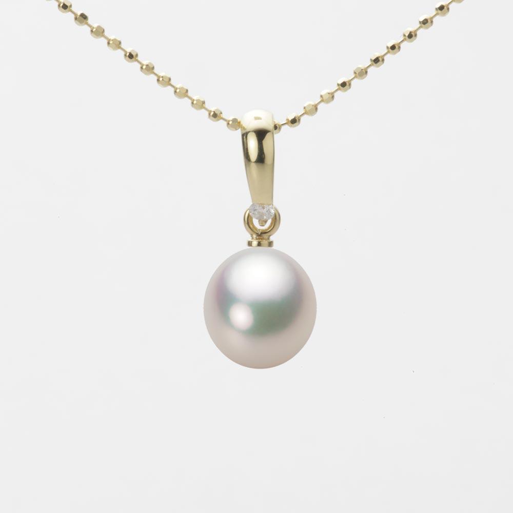 あこや真珠 パール ペンダント トップ 7.5mm アコヤ 真珠 ペンダント トップ K18 イエローゴールド レディース HA00075D11CW01500Y-T