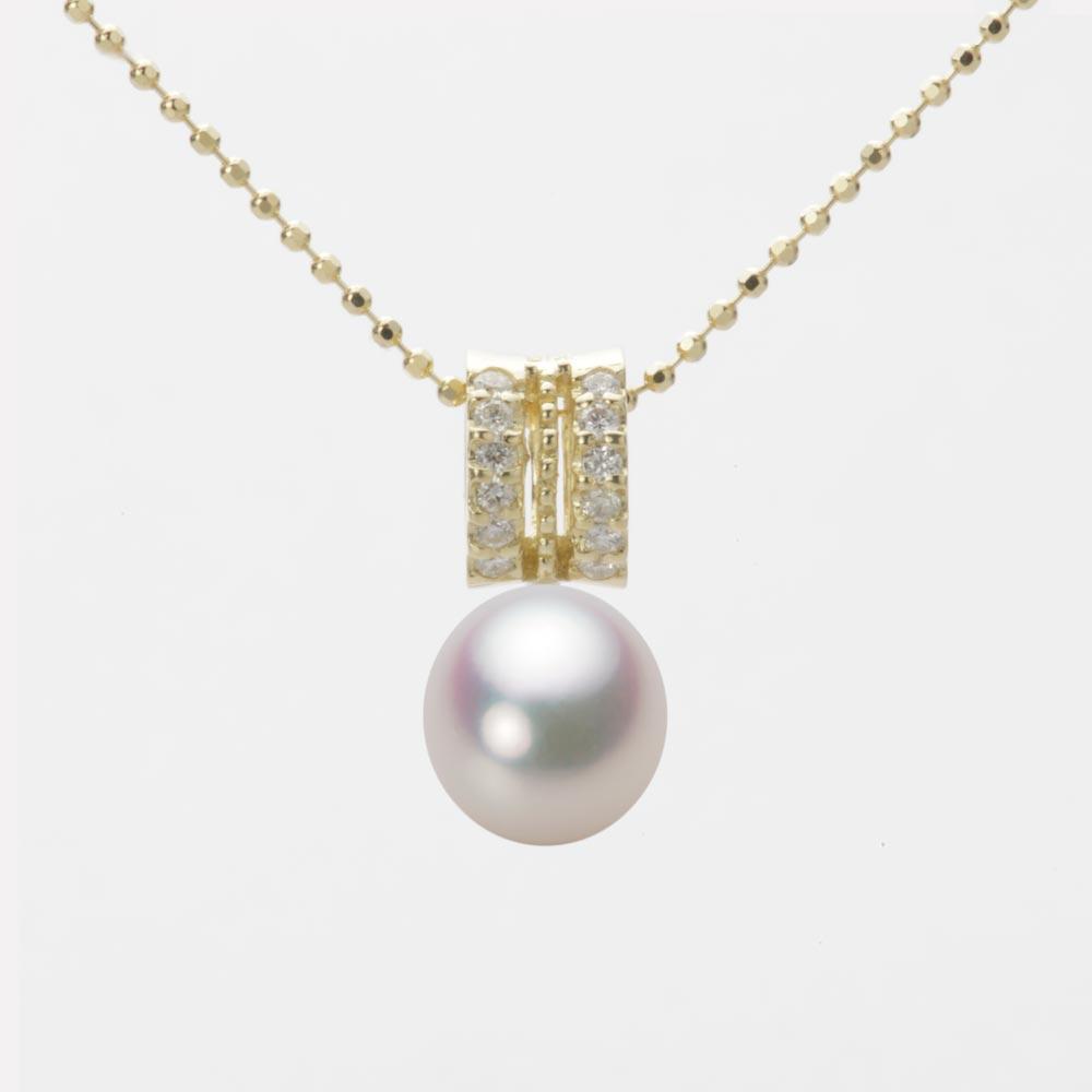 あこや真珠 パール ネックレス 7.5mm アコヤ 真珠 ペンダント K18 イエローゴールド レディース HA00075D11WPG1278Y
