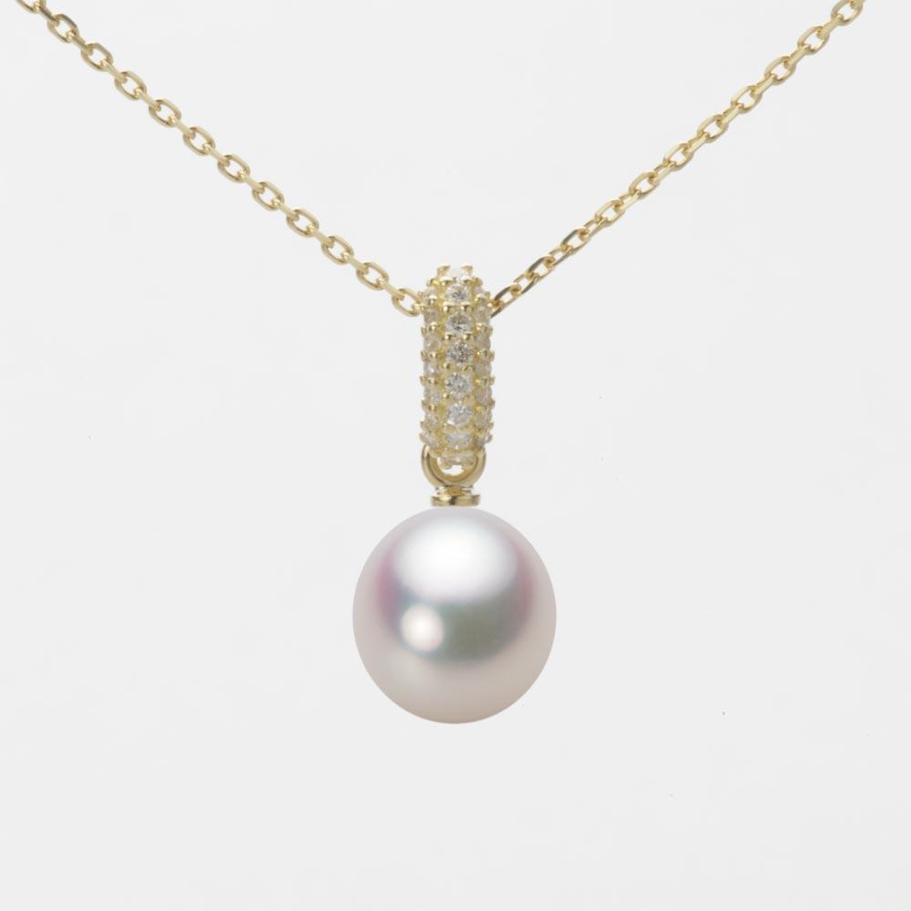あこや真珠 パール ネックレス 7.5mm アコヤ 真珠 ペンダント K18 イエローゴールド レディース HA00075D11WPG1489Y