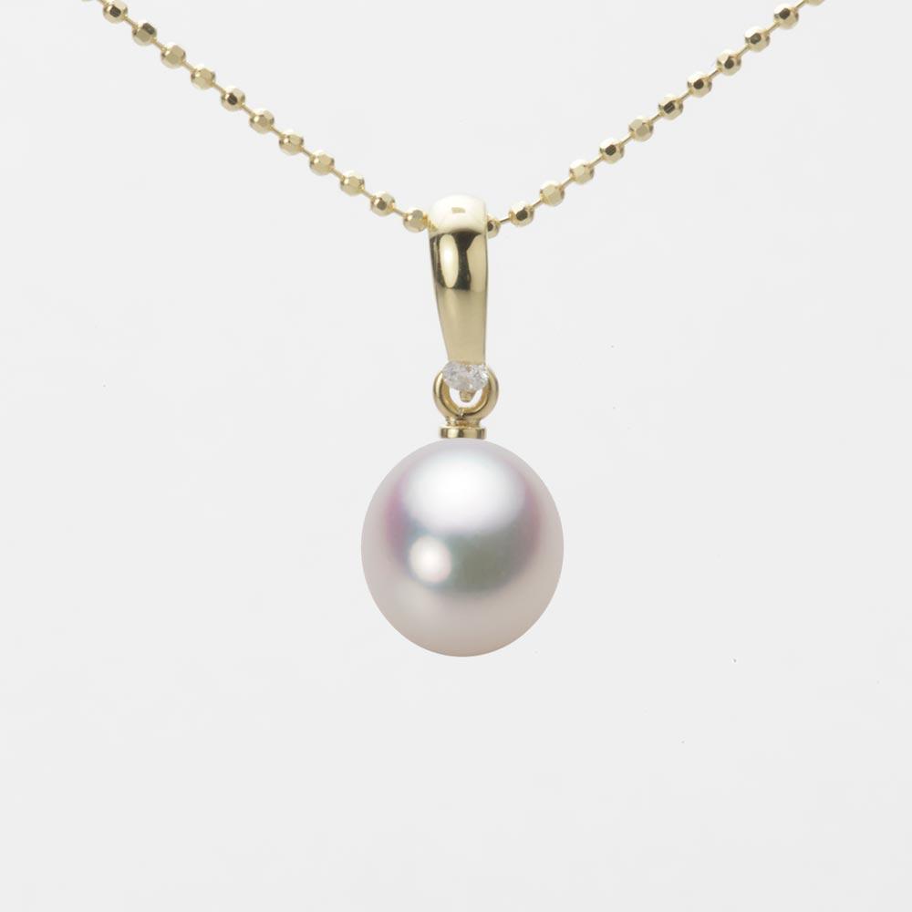 あこや真珠 パール ネックレス 7.5mm アコヤ 真珠 ペンダント K18 イエローゴールド レディース HA00075D11WPG1500Y