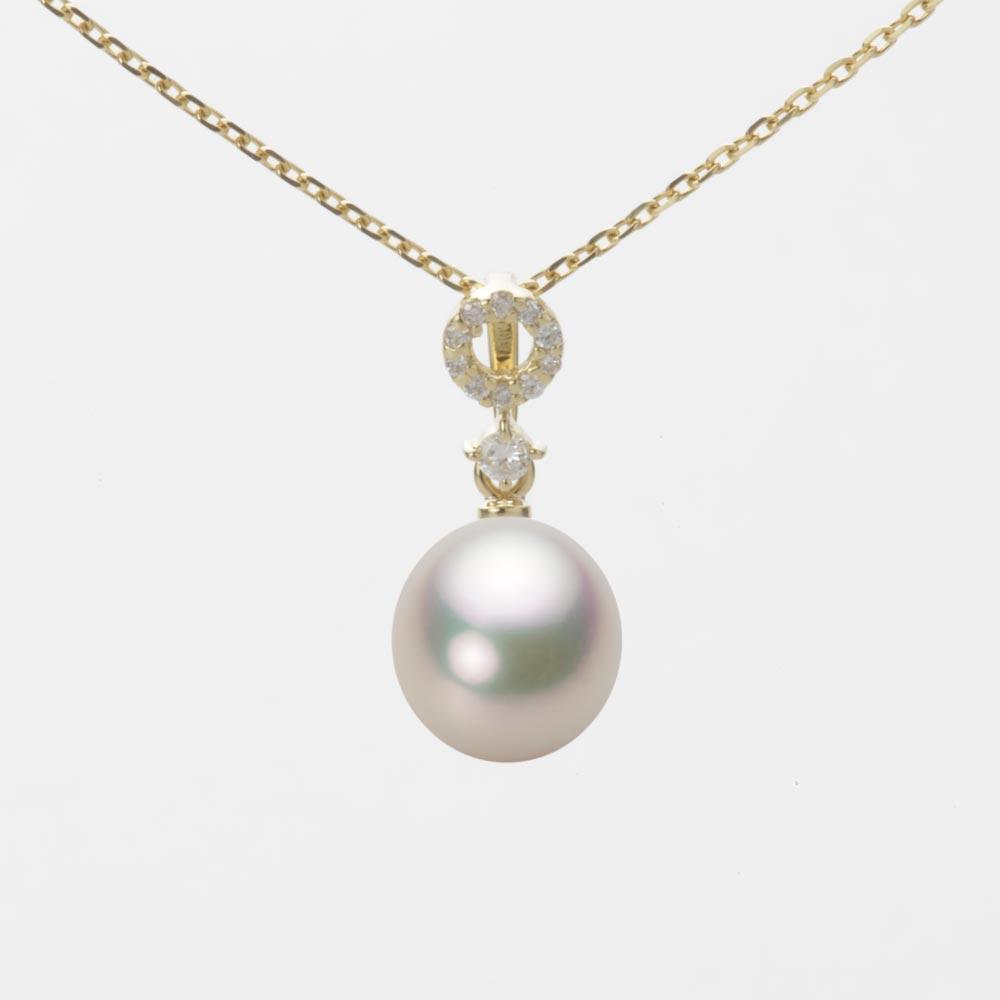 あこや真珠 パール ネックレス 7.5mm アコヤ 真珠 ペンダント K18 イエローゴールド レディース HA00075D12CW01474Y