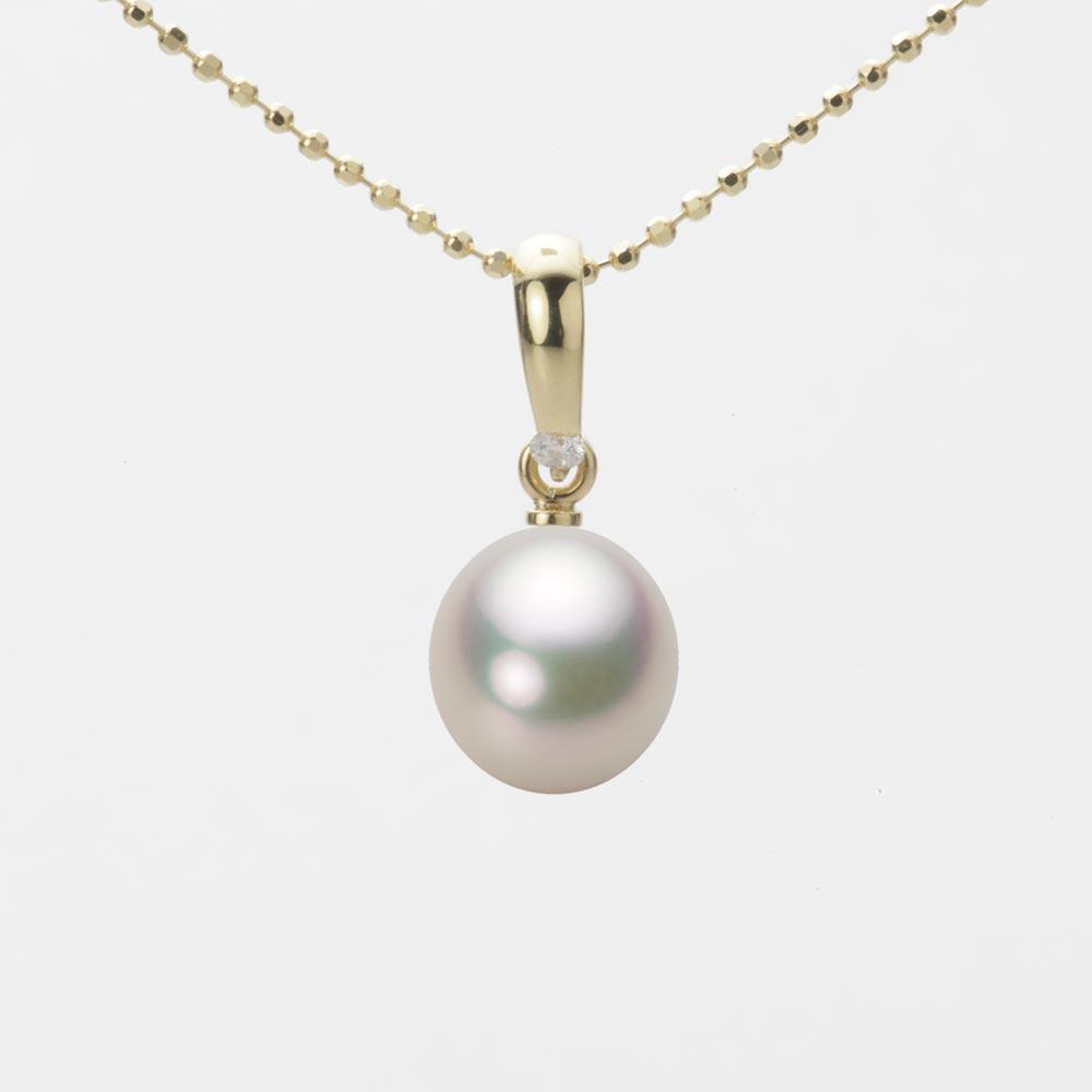あこや真珠 パール ペンダント トップ 7.5mm アコヤ 真珠 ペンダント トップ K18 イエローゴールド レディース HA00075D12CW01500Y-T