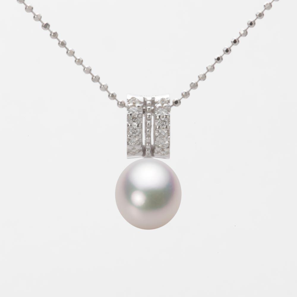 あこや真珠 パール ペンダント トップ 7.5mm アコヤ 真珠 ペンダント トップ K18WG ホワイトゴールド レディース HA00075D12WPG1278W-T