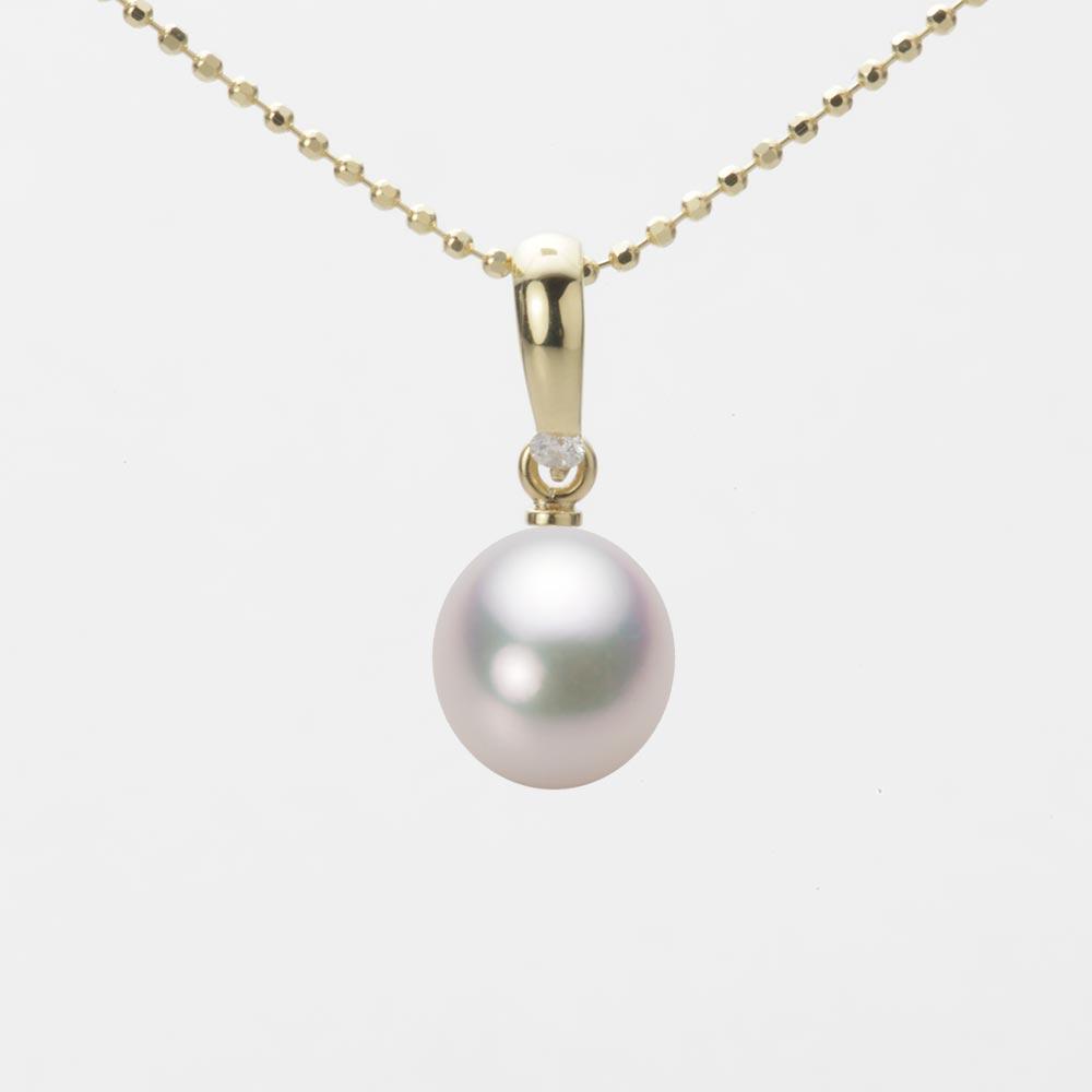 あこや真珠 パール ペンダント トップ 7.5mm アコヤ 真珠 ペンダント トップ K18 イエローゴールド レディース HA00075D12WPG1500Y-T