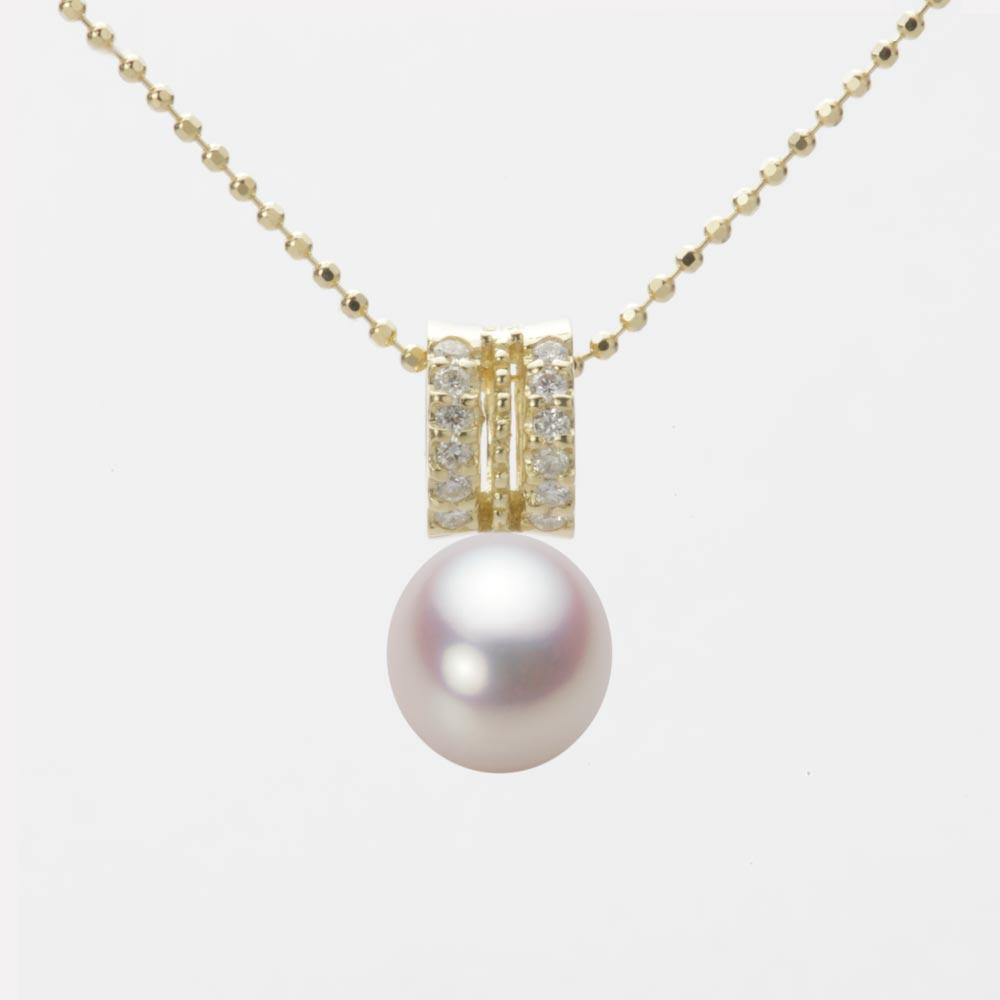 あこや真珠 パール ペンダント トップ 7.5mm アコヤ 真珠 ペンダント トップ K18 イエローゴールド レディース HA00075D12WPN1278Y-T