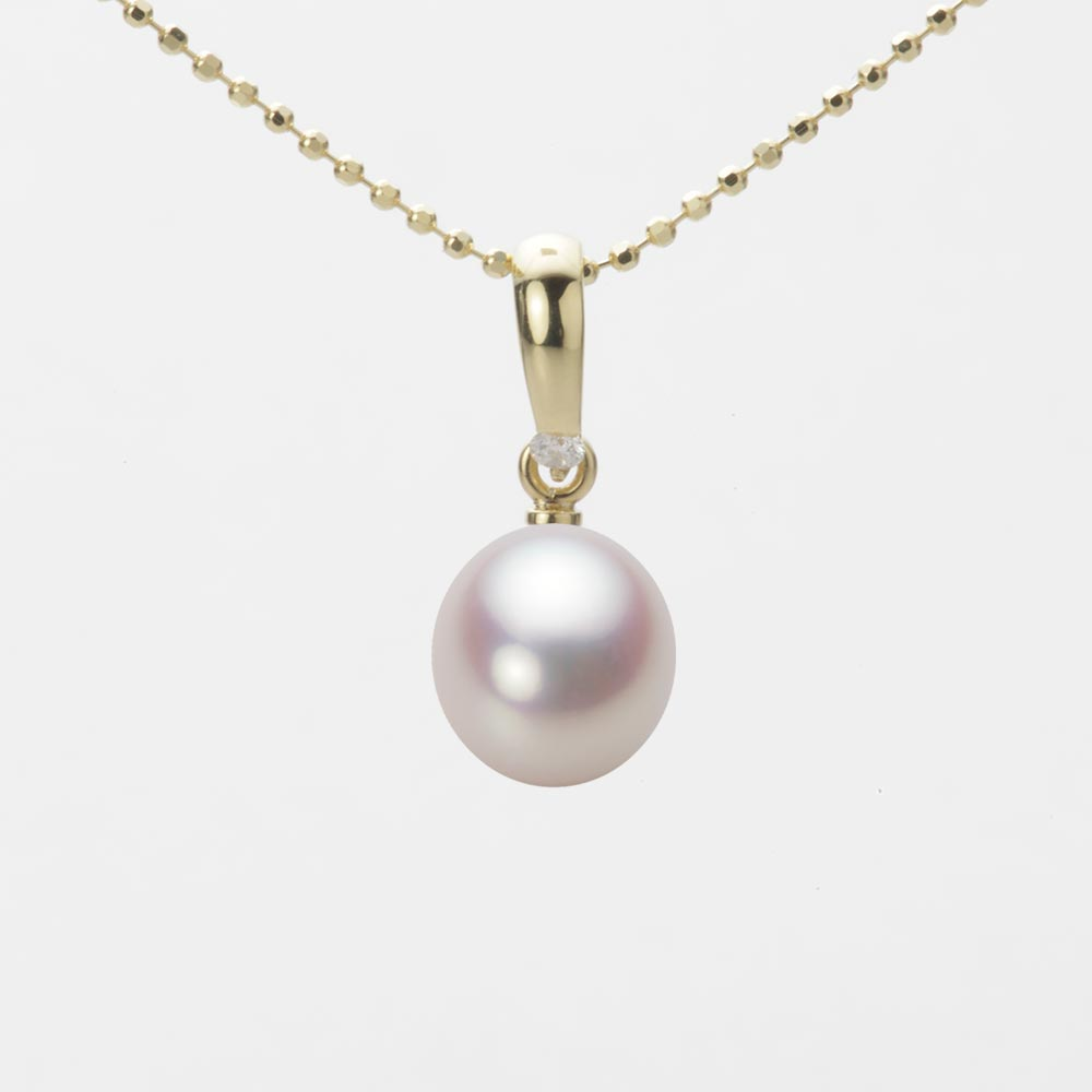 あこや真珠 パール ネックレス 7.5mm アコヤ 真珠 ペンダント K18 イエローゴールド レディース HA00075D12WPN1500Y