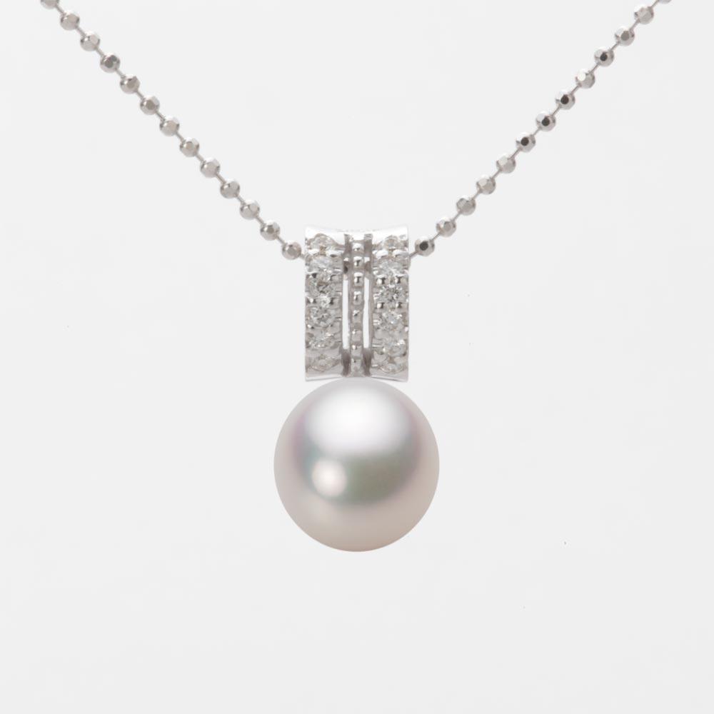 あこや真珠 パール ペンダント トップ 7.5mm アコヤ 真珠 ペンダント トップ K18WG ホワイトゴールド レディース HA00075D13WPG1278W-T