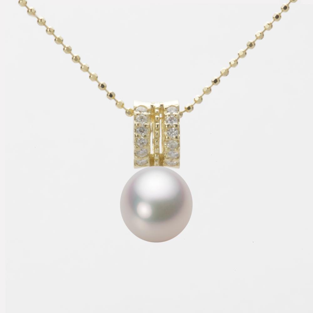 あこや真珠 パール ペンダント トップ 7.5mm アコヤ 真珠 ペンダント トップ K18 イエローゴールド レディース HA00075D13WPG1278Y-T
