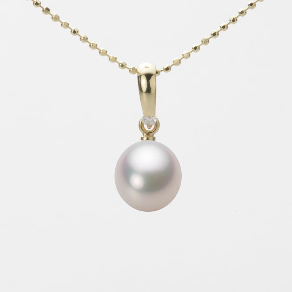 あこや真珠 パール ペンダント トップ 7.5mm アコヤ 真珠 ペンダント トップ K18 イエローゴールド レディース HA00075D13WPG1500Y-T