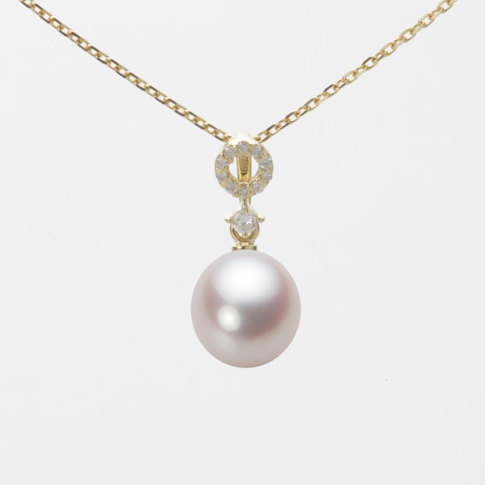 あこや真珠 パール ペンダント トップ 7.5mm アコヤ 真珠 ペンダント トップ K18 イエローゴールド レディース HA00075D13WPN1474Y-T