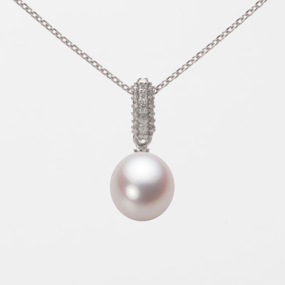あこや真珠 パール ネックレス 7.5mm アコヤ 真珠 ペンダント K18WG ホワイトゴールド レディース HA00075D13WPN1489W