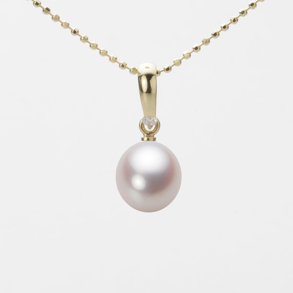 あこや真珠 パール ペンダント トップ 7.5mm アコヤ 真珠 ペンダント トップ K18 イエローゴールド レディース HA00075D13WPN1500Y-T