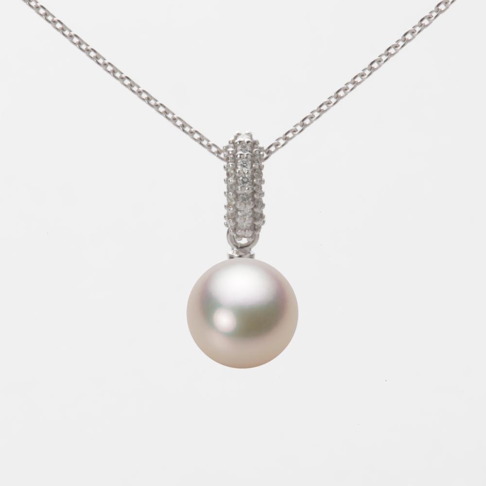 あこや真珠 パール ペンダント トップ 7.5mm アコヤ 真珠 ペンダント トップ K18WG ホワイトゴールド レディース HA00075R11CG01489W-T