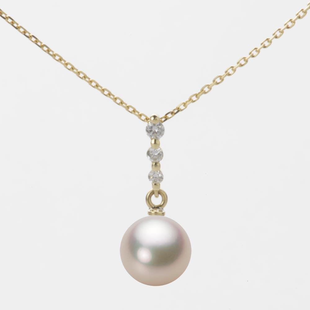 あこや真珠 パール ペンダント トップ 7.5mm アコヤ 真珠 ペンダント トップ K18 イエローゴールド レディース HA00075R11CG0797Y0-T
