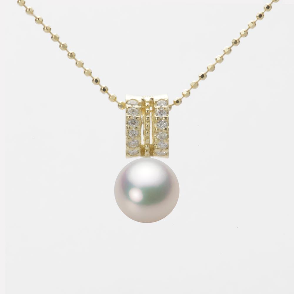 あこや真珠 パール ネックレス 7.5mm アコヤ 真珠 ペンダント K18 イエローゴールド レディース HA00075R11CW01278Y