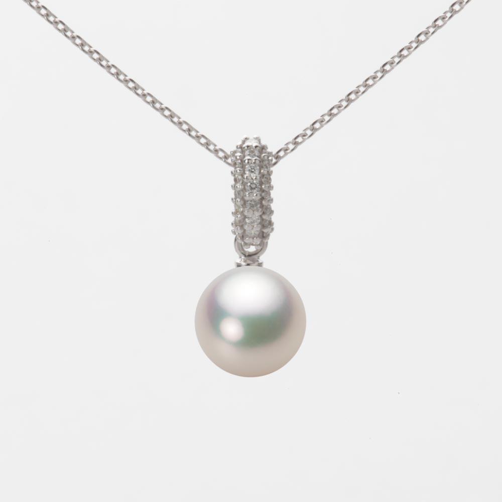 あこや真珠 パール ペンダント トップ 7.5mm アコヤ 真珠 ペンダント トップ K18WG ホワイトゴールド レディース HA00075R11CW01489W-T