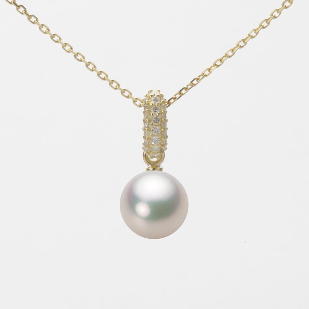 あこや真珠 パール ネックレス 7.5mm アコヤ 真珠 ペンダント K18 イエローゴールド レディース HA00075R11CW01489Y