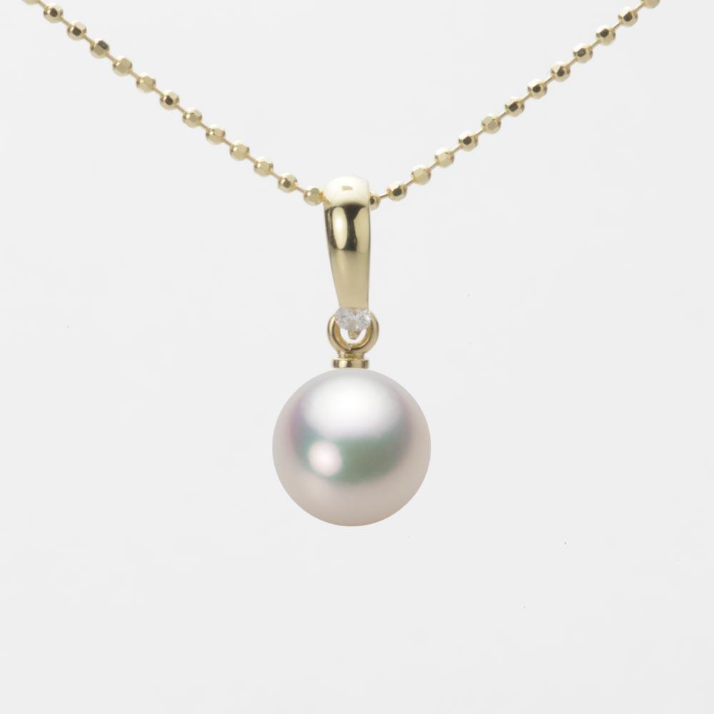 あこや真珠 パール ペンダント トップ 7.5mm アコヤ 真珠 ペンダント トップ K18 イエローゴールド レディース HA00075R11CW01500Y-T