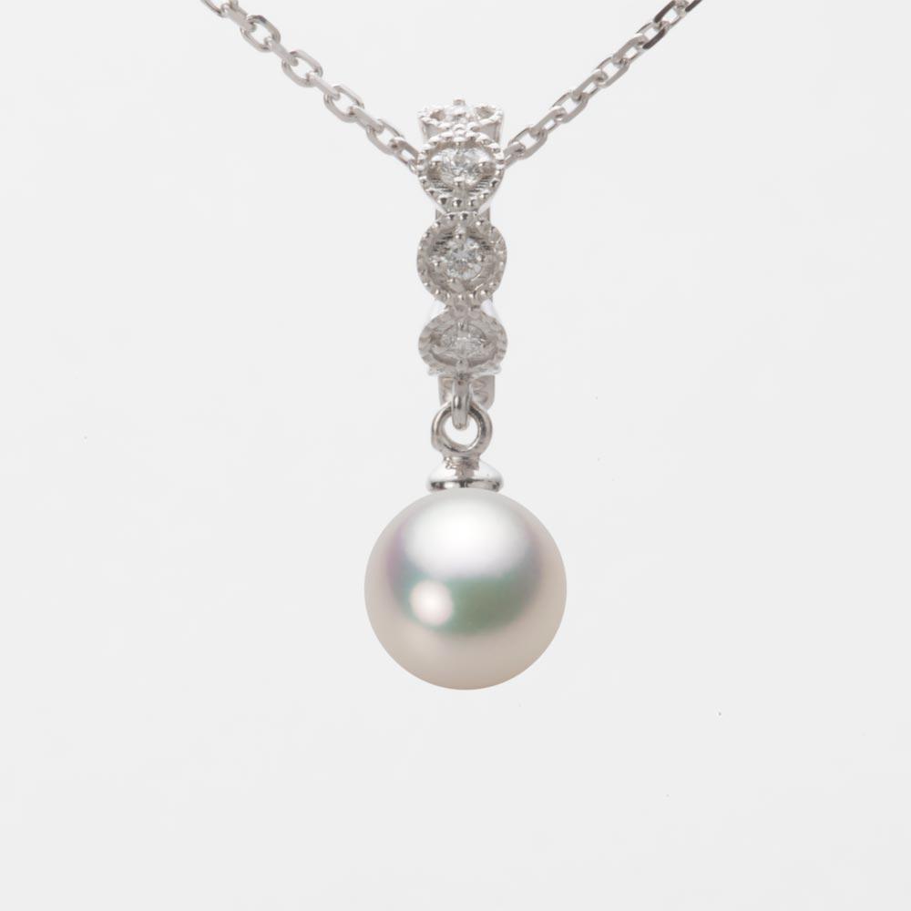 あこや真珠 パール ペンダント トップ 7.5mm アコヤ 真珠 ペンダント トップ K18WG ホワイトゴールド レディース HA00075R11CW0290W0-T