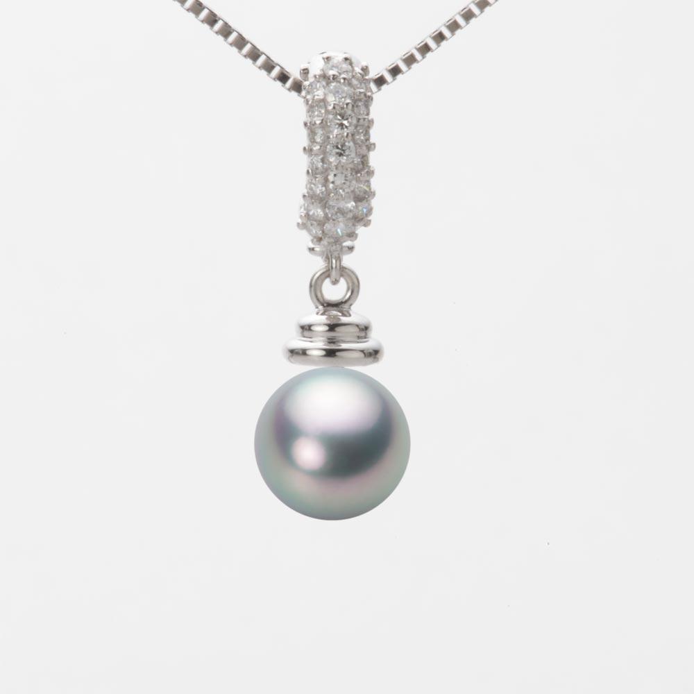 あこや真珠 パール ネックレス 7.5mm アコヤ 真珠 ペンダント K18WG ホワイトゴールド レディース HA00075R11SG0115W0