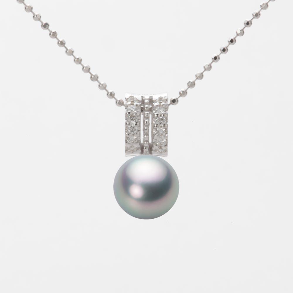 あこや真珠 パール ネックレス 7.5mm アコヤ 真珠 ペンダント K18WG ホワイトゴールド レディース HA00075R11SG01278W