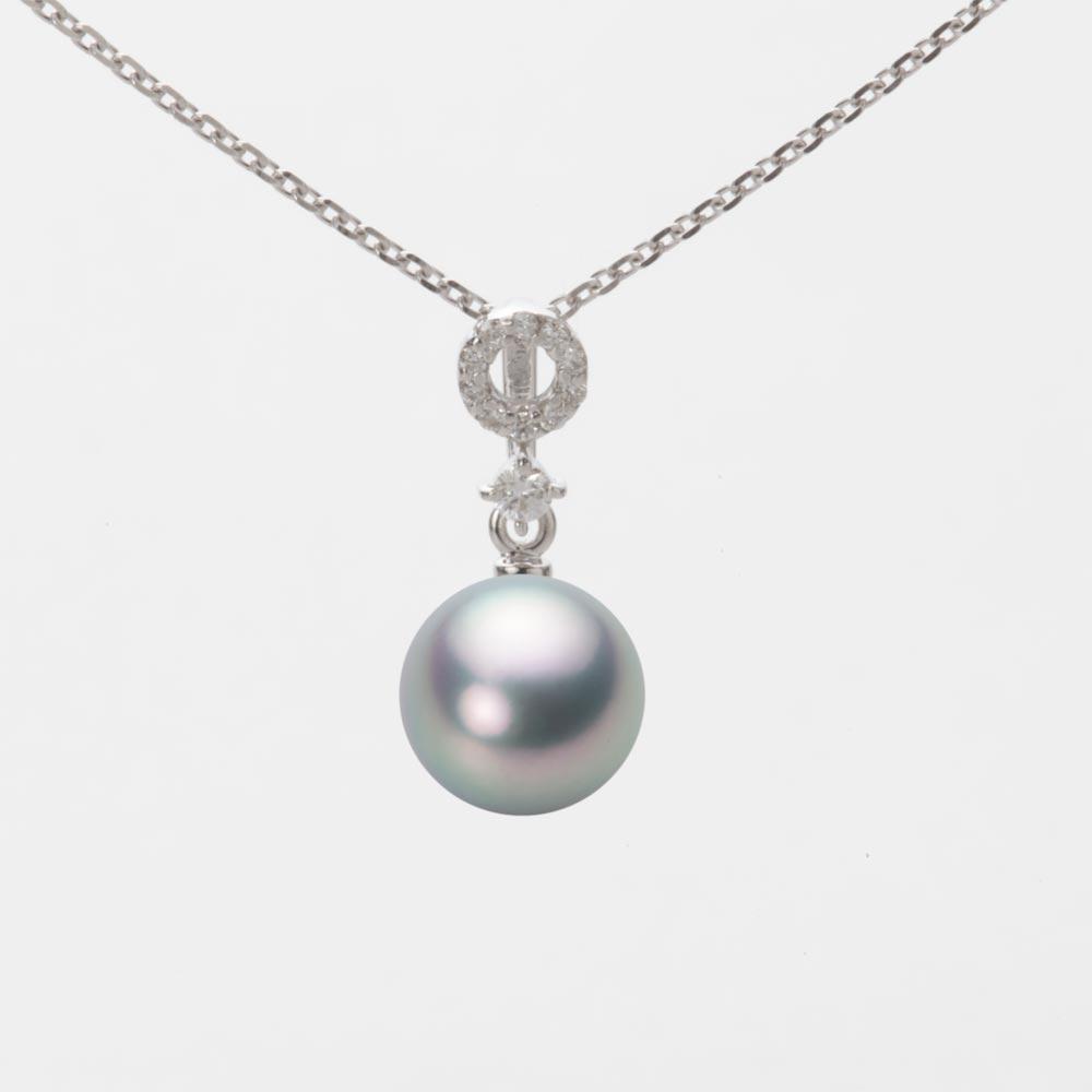 あこや真珠 パール ネックレス 7.5mm アコヤ 真珠 ペンダント K18WG ホワイトゴールド レディース HA00075R11SG01474W