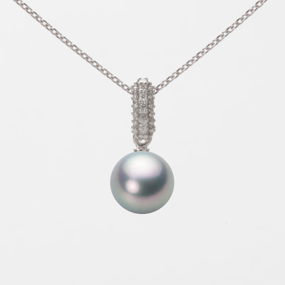 あこや真珠 パール ペンダント トップ 7.5mm アコヤ 真珠 ペンダント トップ K18WG ホワイトゴールド レディース HA00075R11SG01489W-T