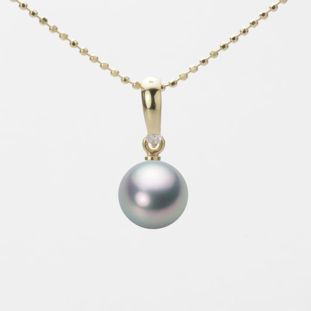 あこや真珠 パール ペンダント トップ 7.5mm アコヤ 真珠 ペンダント トップ K18 イエローゴールド レディース HA00075R11SG01500Y-T