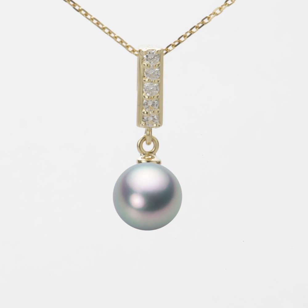 あこや真珠 パール ペンダント トップ 7.5mm アコヤ 真珠 ペンダント トップ K18 イエローゴールド レディース HA00075R11SG0314Y0-T