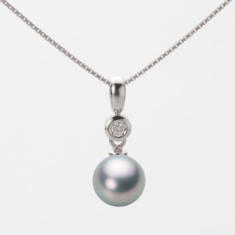 あこや真珠 パール ペンダント トップ 7.5mm アコヤ 真珠 ペンダント トップ K18WG ホワイトゴールド レディース HA00075R11SG0725W0-T