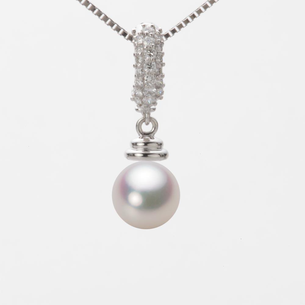 あこや真珠 パール ペンダント トップ 7.5mm アコヤ 真珠 ペンダント トップ K18WG ホワイトゴールド レディース HA00075R11WPG115W0-T