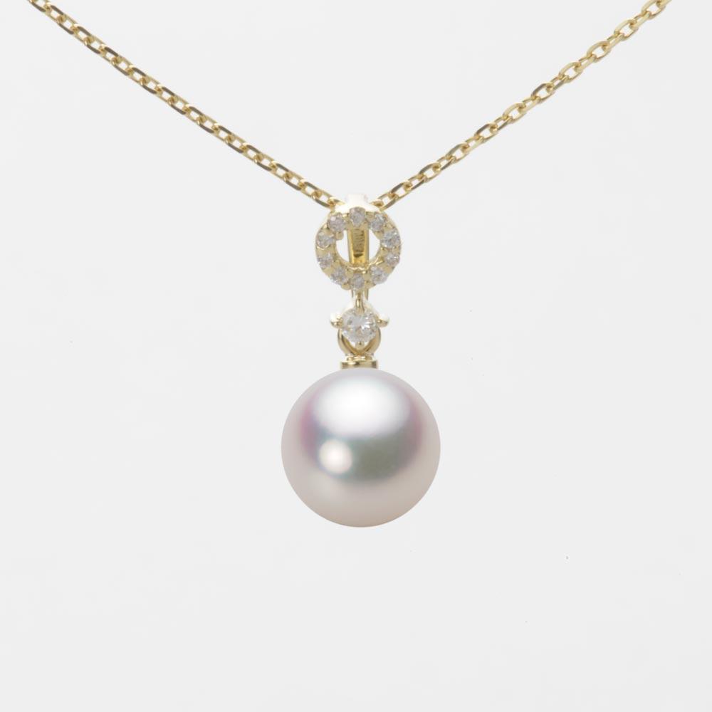 あこや真珠 パール ネックレス 7.5mm アコヤ 真珠 ペンダント K18 イエローゴールド レディース HA00075R11WPG1474Y