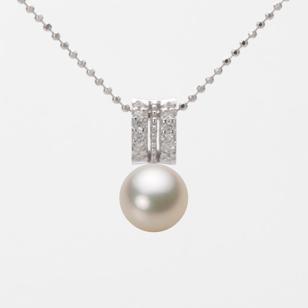 あこや真珠 パール ペンダント トップ 7.5mm アコヤ 真珠 ペンダント トップ K18WG ホワイトゴールド レディース HA00075R12CG01278W-T