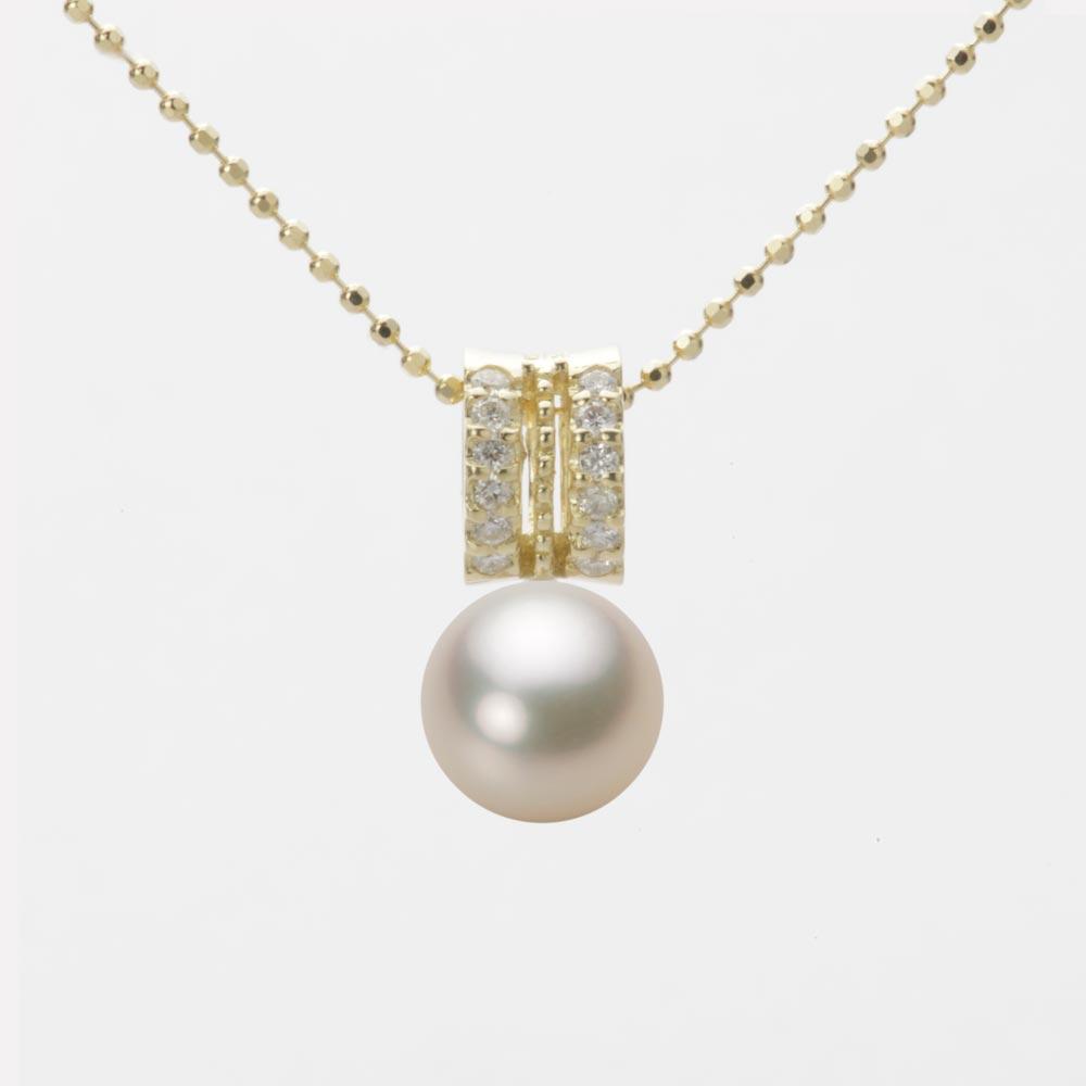 あこや真珠 パール ペンダント トップ 7.5mm アコヤ 真珠 ペンダント トップ K18 イエローゴールド レディース HA00075R12CG01278Y-T