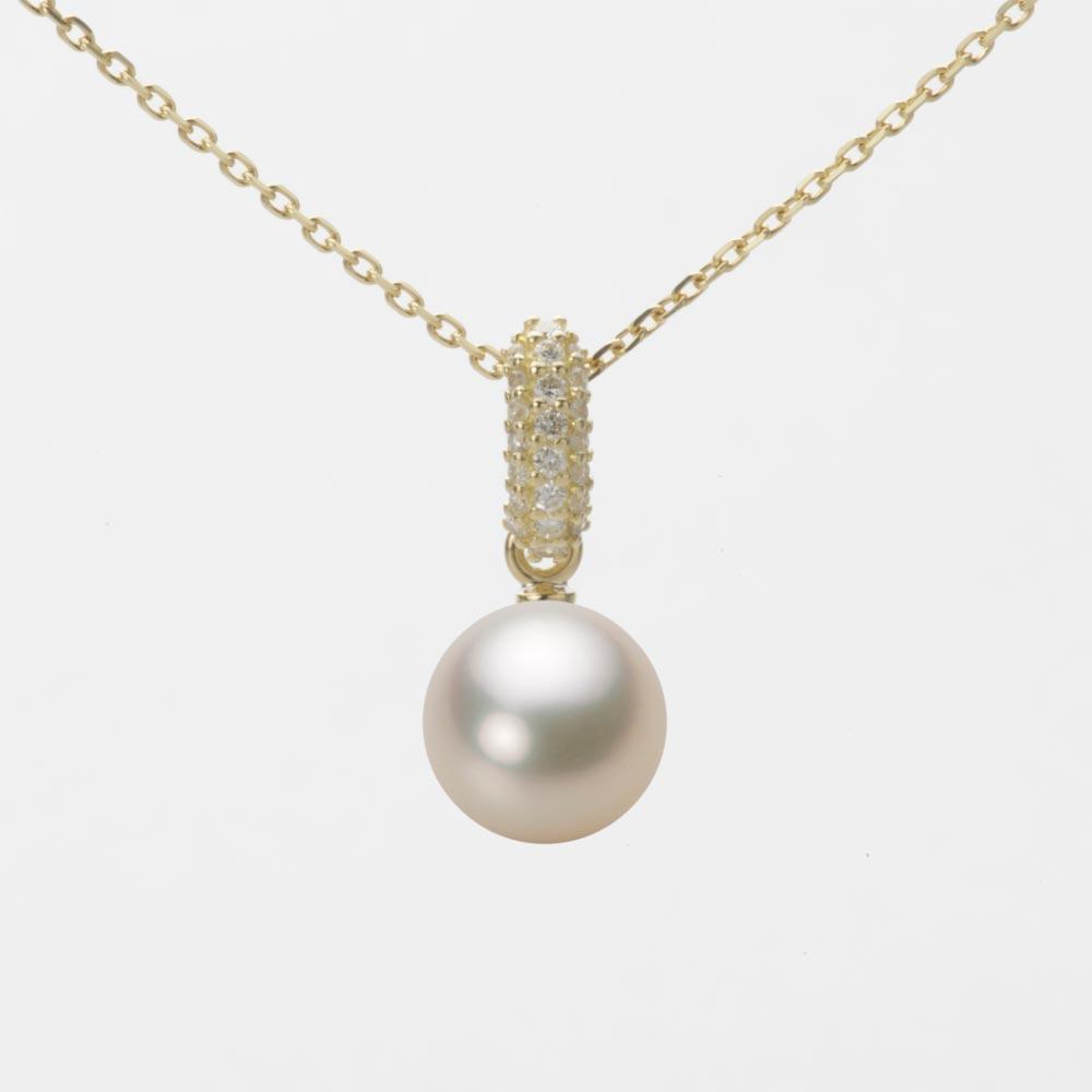 あこや真珠 パール ネックレス 7.5mm アコヤ 真珠 ペンダント K18 イエローゴールド レディース HA00075R12CG01489Y