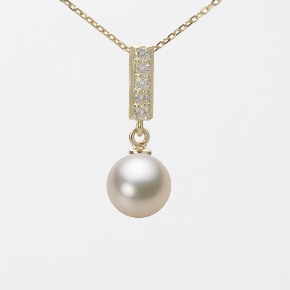 あこや真珠 パール ネックレス 7.5mm アコヤ 真珠 ペンダント K18 イエローゴールド レディース HA00075R12CG0314Y0
