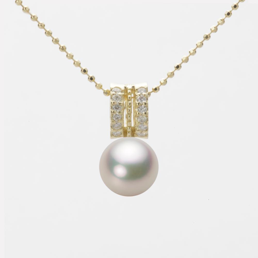 あこや真珠 パール ペンダント トップ 7.5mm アコヤ 真珠 ペンダント トップ K18 イエローゴールド レディース HA00075R12CW01278Y-T