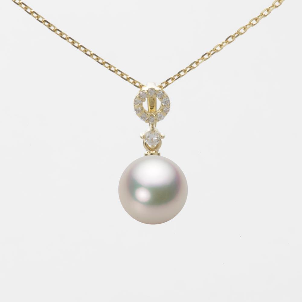 あこや真珠 パール ペンダント トップ 7.5mm アコヤ 真珠 ペンダント トップ K18 イエローゴールド レディース HA00075R12CW01474Y-T