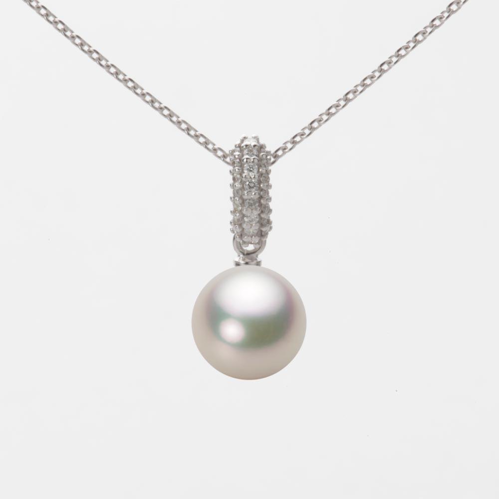 あこや真珠 パール ネックレス 7.5mm アコヤ 真珠 ペンダント K18WG ホワイトゴールド レディース HA00075R12CW01489W