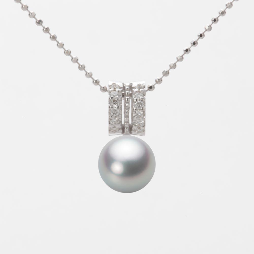 あこや真珠 パール ネックレス 7.5mm アコヤ 真珠 ペンダント K18WG ホワイトゴールド レディース HA00075R12SG01278W