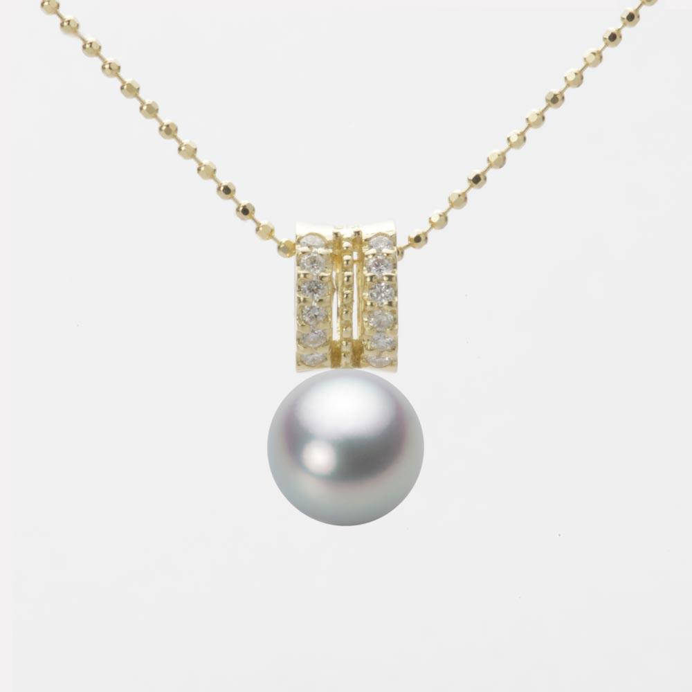 あこや真珠 パール ペンダント トップ 7.5mm アコヤ 真珠 ペンダント トップ K18 イエローゴールド レディース HA00075R12SG01278Y-T