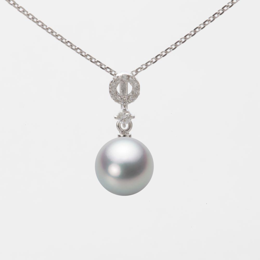 あこや真珠 パール ペンダント トップ 7.5mm アコヤ 真珠 ペンダント トップ K18WG ホワイトゴールド レディース HA00075R12SG01474W-T