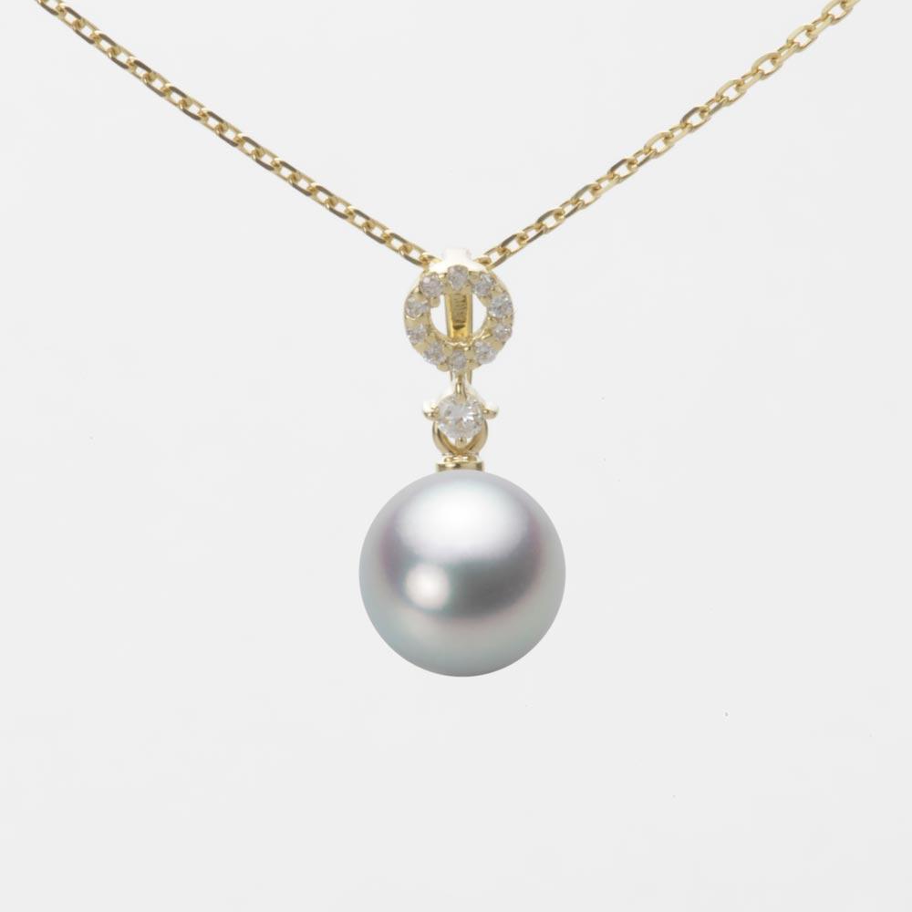 あこや真珠 パール ネックレス 7.5mm アコヤ 真珠 ペンダント K18 イエローゴールド レディース HA00075R12SG01474Y