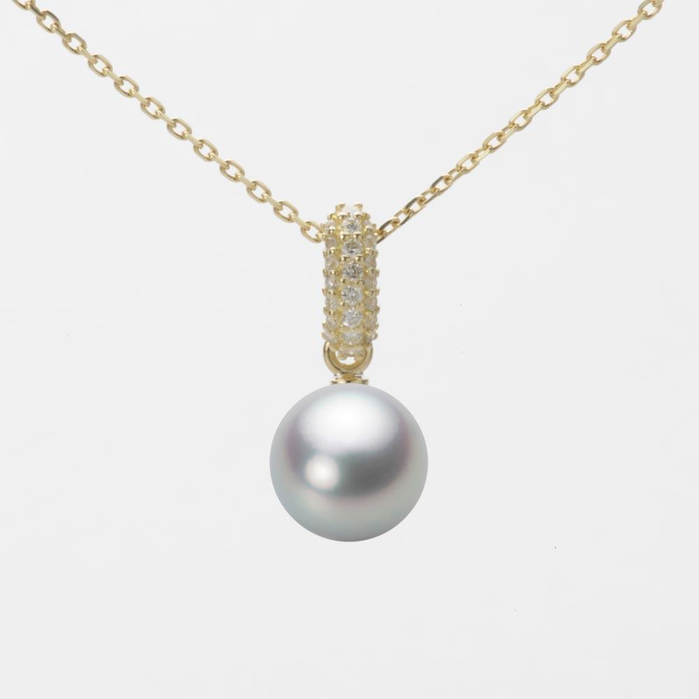 あこや真珠 パール ネックレス 7.5mm アコヤ 真珠 ペンダント K18 イエローゴールド レディース HA00075R12SG01489Y