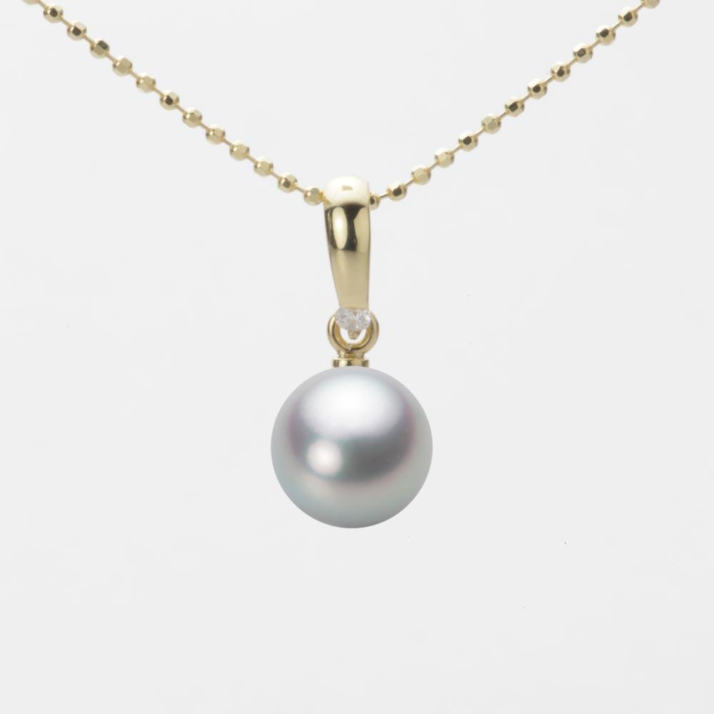 あこや真珠 パール ペンダント トップ 7.5mm アコヤ 真珠 ペンダント トップ K18 イエローゴールド レディース HA00075R12SG01500Y-T